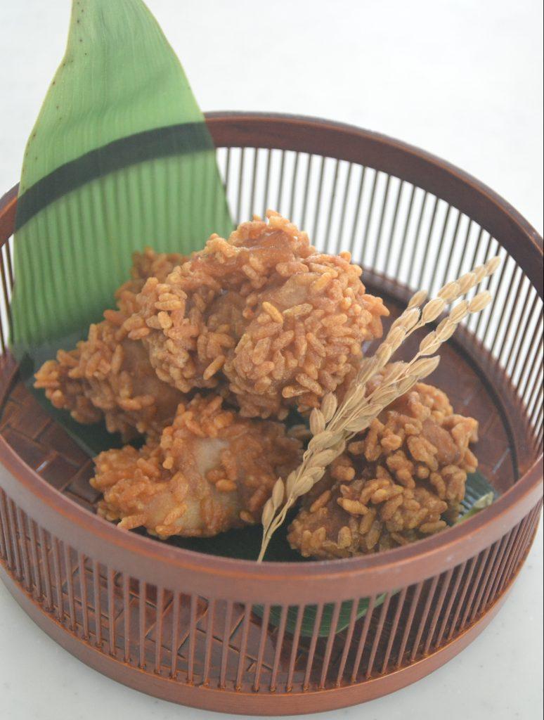 発芽玄米パフ使用唐揚げ